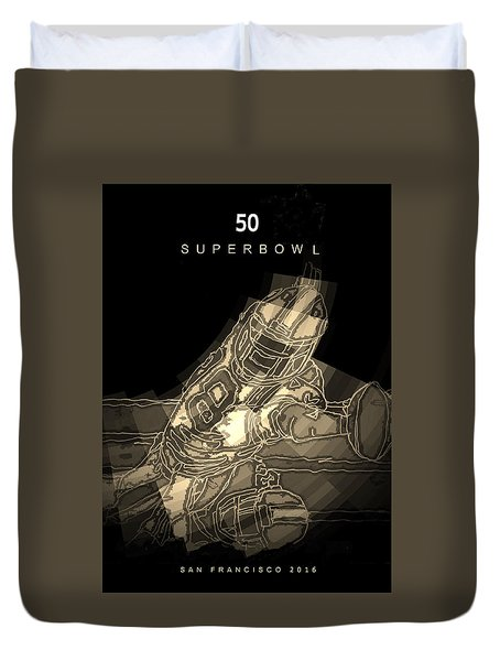 Super Bowl Poster Duvet Cover by Andrew Drozdowicz