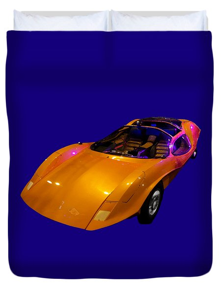 Super Car Orange Art Duvet Cover