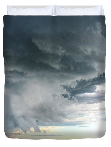 Super Cell Over Otter Tail County Duvet Cover