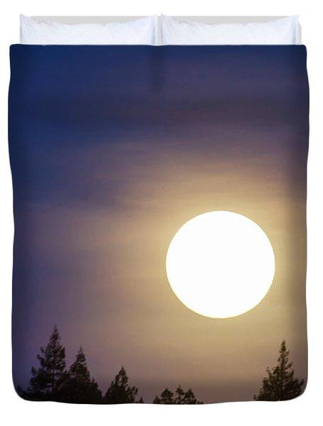 Super Full Moon Duvet Cover