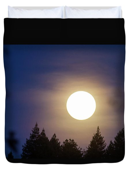 Super Full Moon Duvet Cover