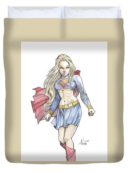 Super Girl Duvet Cover by Jimmy Adams