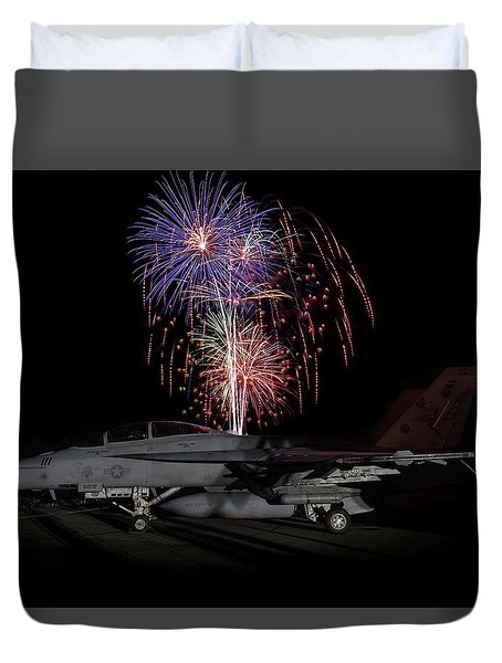 Super Hornet Celebration Duvet Cover