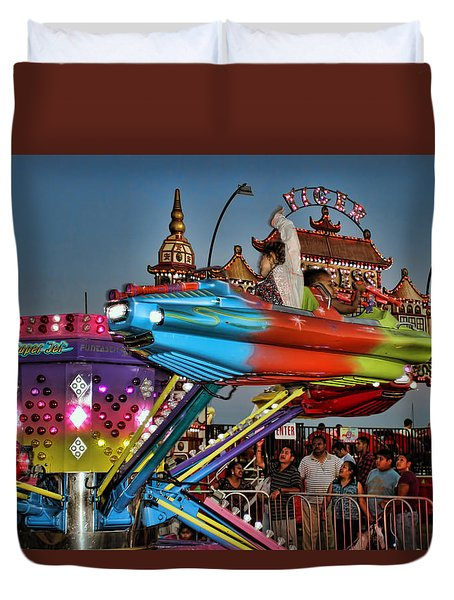 Super Jet Ride  Duvet Cover by Cathy Anderson