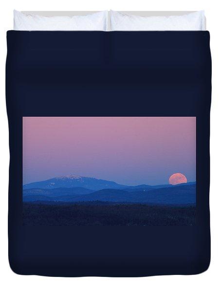 Super Moon And Mount Monadnock Duvet Cover