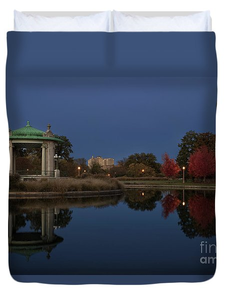 Duvet Cover featuring the photograph Super Moon by Andrea Silies