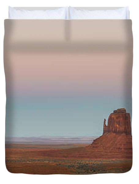 Super Moon In Monument Valley Duvet Cover