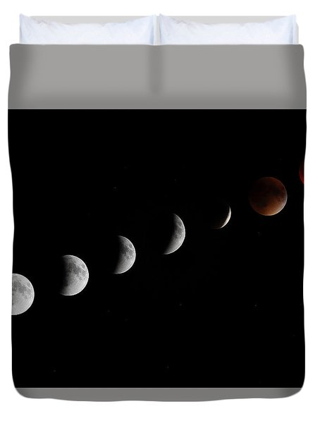 Super Moon Lunar Eclipse Duvet Cover