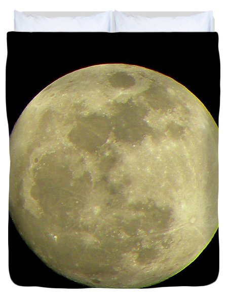 Super Moon March 19 2011 Duvet Cover by Sandi OReilly