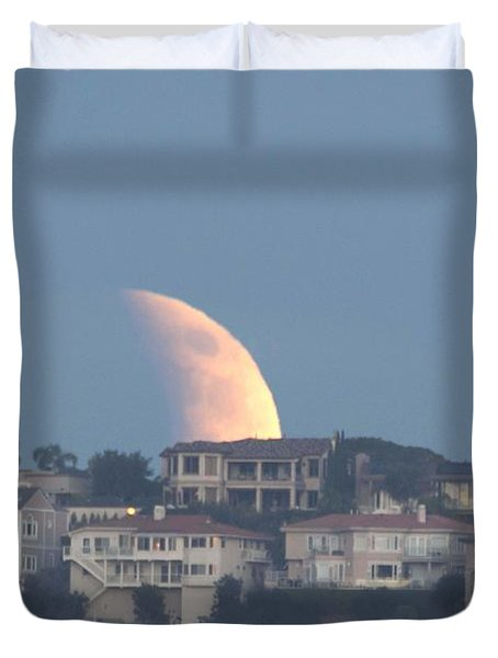 Super Moon Rise Duvet Cover