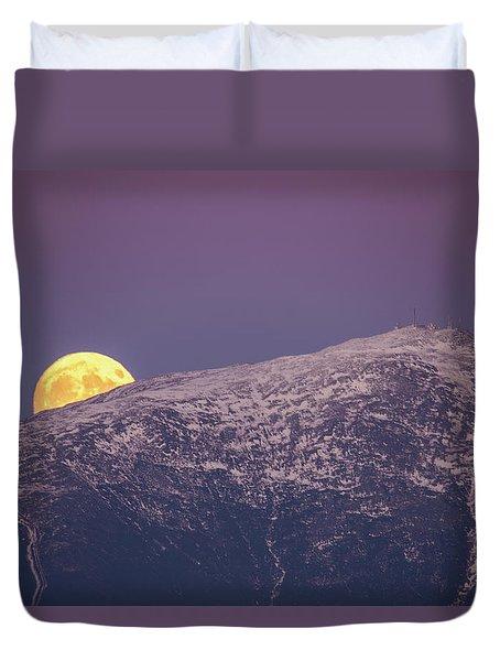Super Moon Rising Duvet Cover