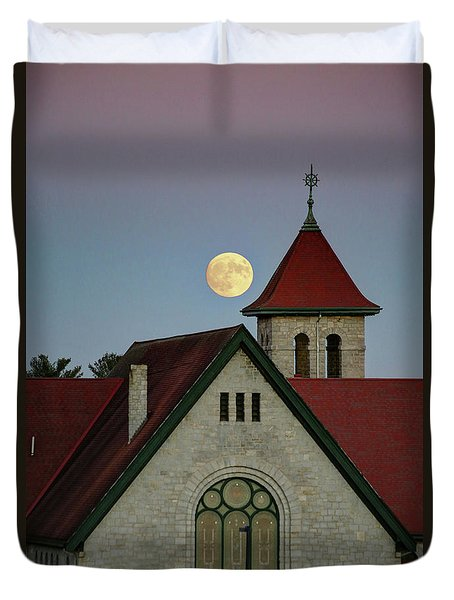 Super Moon Rising Duvet Cover