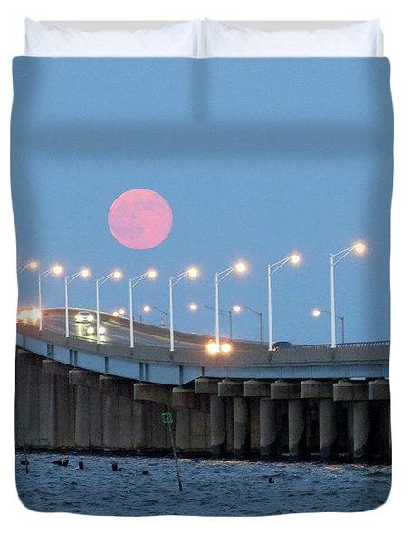 Super Moon  Duvet Cover