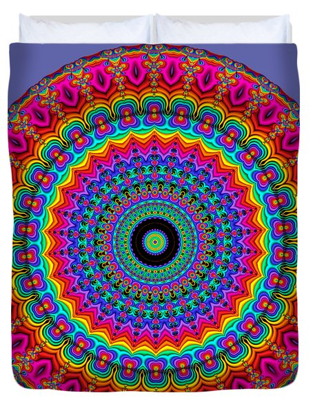 Super Rainbow Mandala Duvet Cover