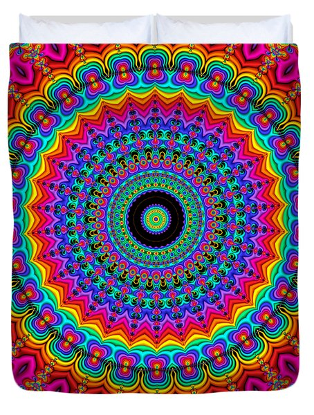 Super Rainbow Mandala Duvet Cover