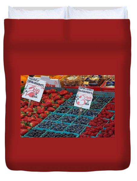 Super Sweet Blueberries Duvet Cover