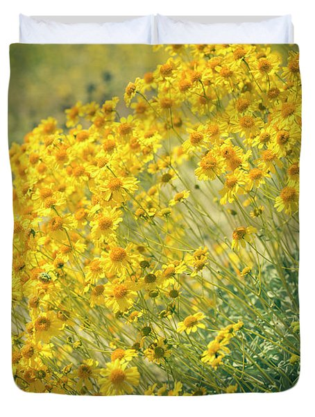 Superbloom Golden Yellow Duvet Cover by Amyn Nasser
