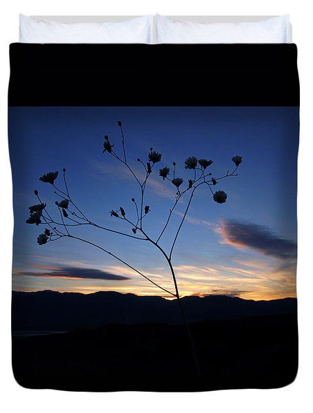 Superbloom Sunset In Death Valley 101 Duvet Cover by Daniel Woodrum