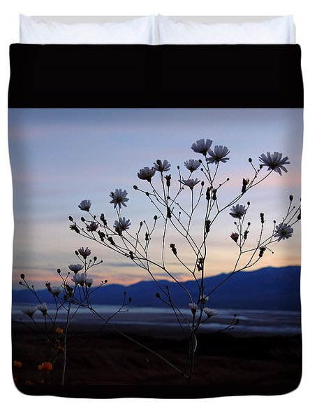 Superbloom Sunset In Death Valley 102 Duvet Cover by Daniel Woodrum