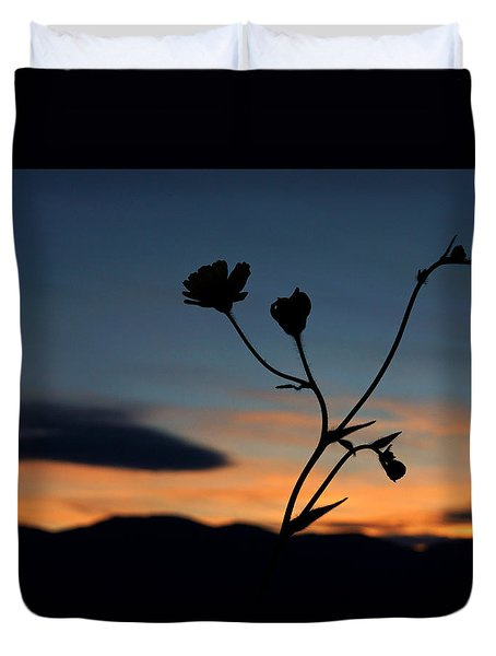 Superbloom Sunset In Death Valley 105 Duvet Cover by Daniel Woodrum