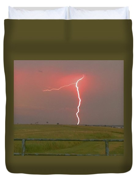 Superbolt On The Prairie Duvet Cover