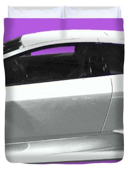 Supercar In White Art Duvet Cover