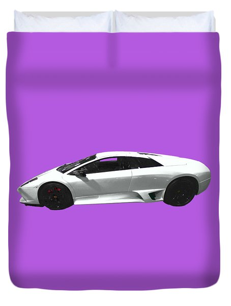 Supercar In White Art Duvet Cover