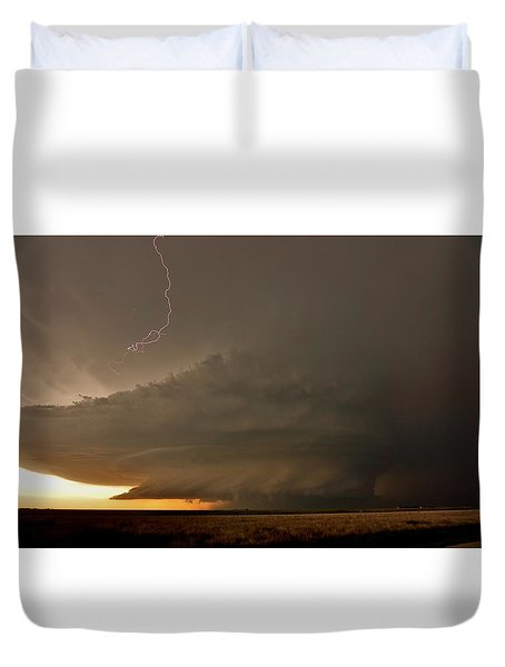 Supercell In Kansas Duvet Cover