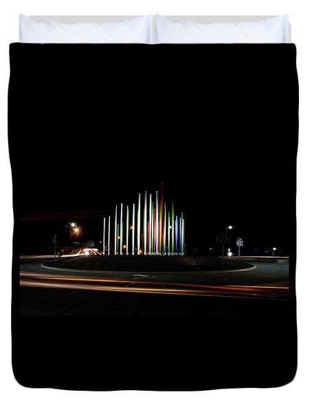 Superior Circle Art - Fort Wayne Indiana Duvet Cover