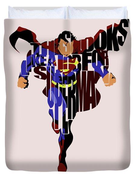 Superman - Man Of Steel Duvet Cover