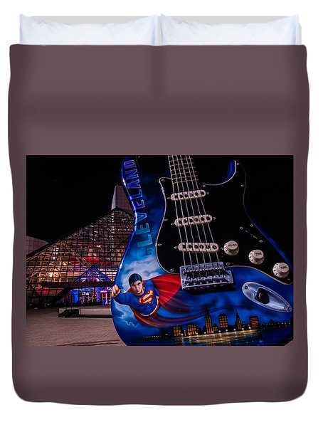 Superman Rocks Duvet Cover