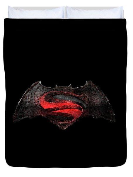 Superman Vs Batman Duvet Cover