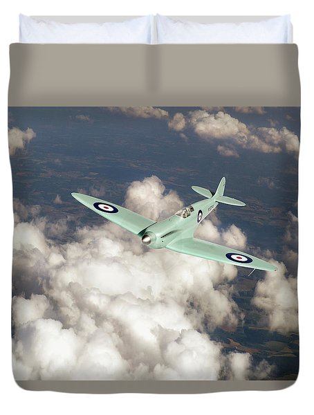 Duvet Cover featuring the photograph Supermarine Spitfire Prototype K5054 by Gary Eason