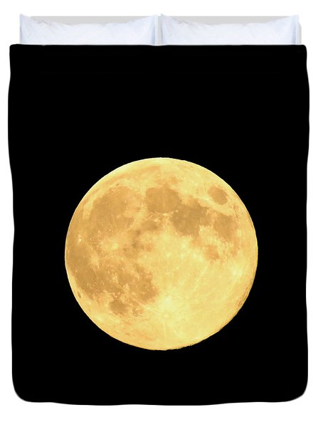 Supermoon Full Moon Duvet Cover by Kyle West