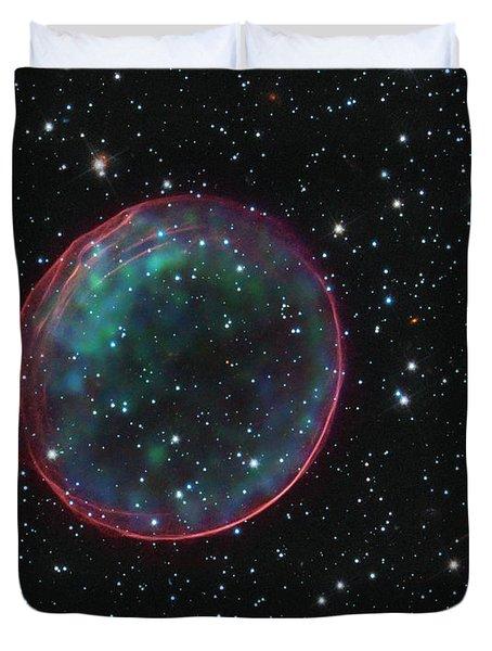 Supernova Bubble Resembles Holiday Ornament Duvet Cover
