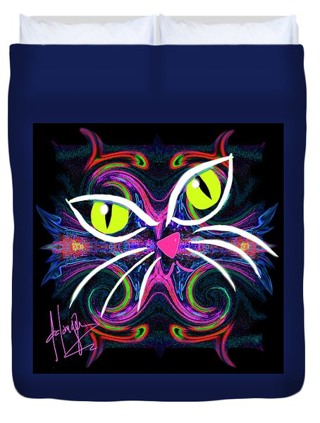 Supernova Cat Duvet Cover
