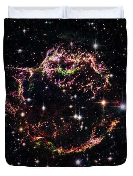 Duvet Cover featuring the photograph Supernova Remnant Cassiopeia A by Marco Oliveira