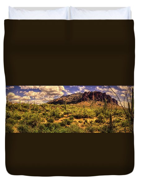 Superstition Mountain And Wilderness Duvet Cover