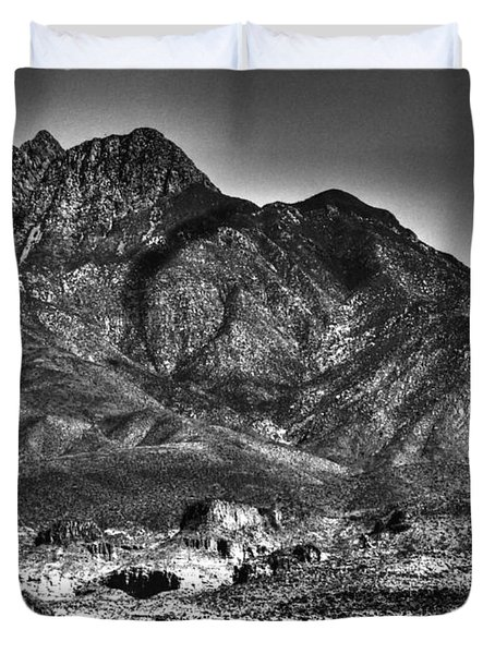 Four Peaks From Lost Dutchman State Park Duvet Cover