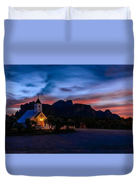 Superstition Sunrise Duvet Cover
