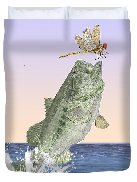 Supper Time Duvet Cover by Barry Jones