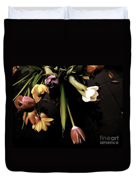 Duvet Cover featuring the photograph Sur Un Air Du Xviiie Siecle by Danica Radman