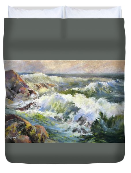 Surf Action Duvet Cover by Rae Andrews