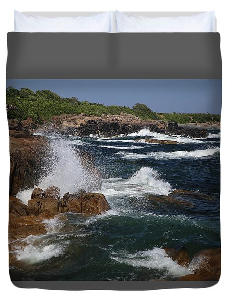 Surf At Biddeford Pool Duvet Cover