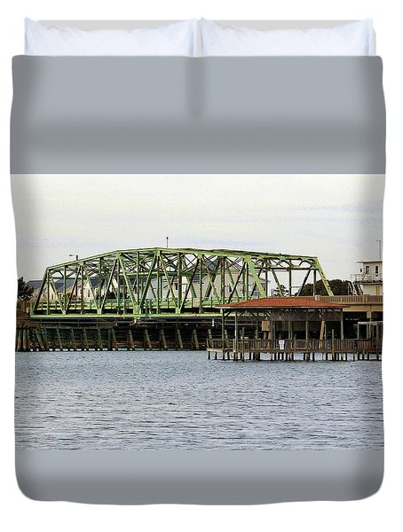 Surf City Swing Bridge Duvet Cover