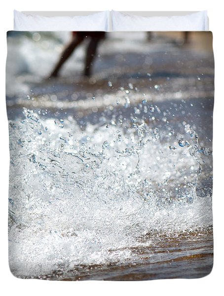 Surf Crashing Duvet Cover by Lisa Knechtel