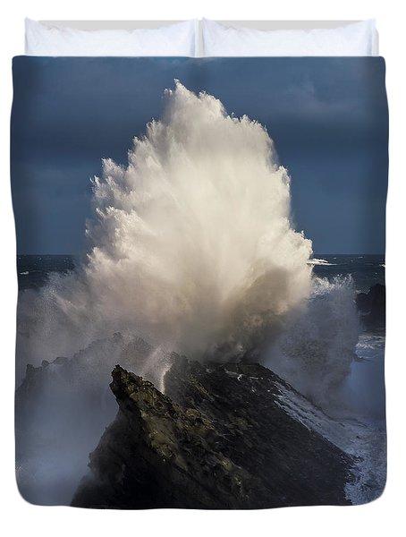 Surf Eruption Duvet Cover