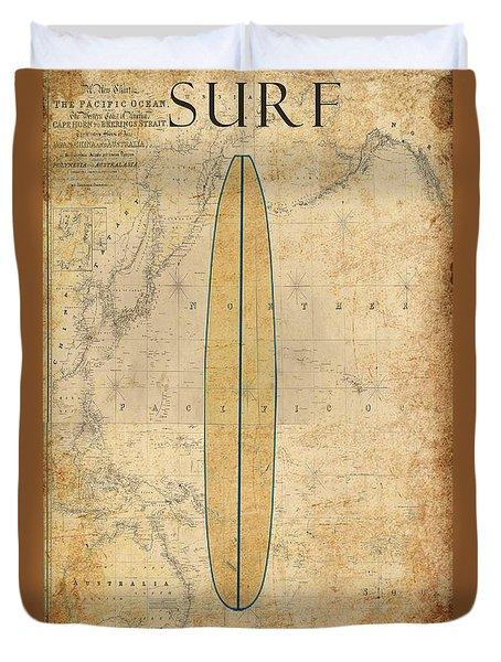 Surf Duvet Cover by Greg Sharpe