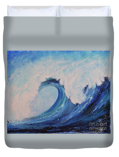 Duvet Cover featuring the painting Surf No.2 by Teresa Wegrzyn
