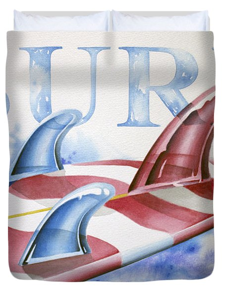 Surf Usa Duvet Cover